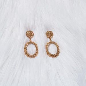 Crumpled Metal Earrings