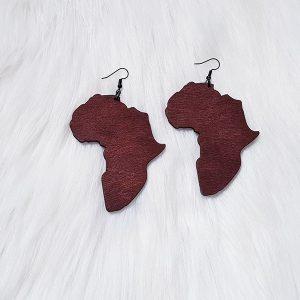 Africa Wood Earrings
