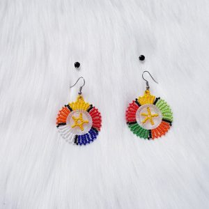 Beaded Drops With Studs