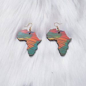Africa Map Earrings