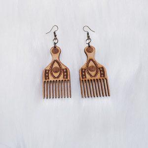 Comb Wood Earrings